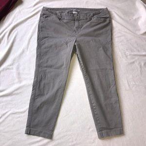 Old navy gray pixie pants